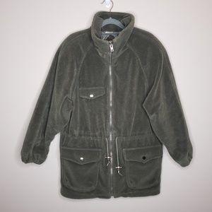 Vintage Mulberry Street Fleece Zip Front Coat